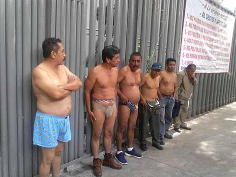 Encadenados y Desnudos Protestaron Cafetaleros en SAGARPA