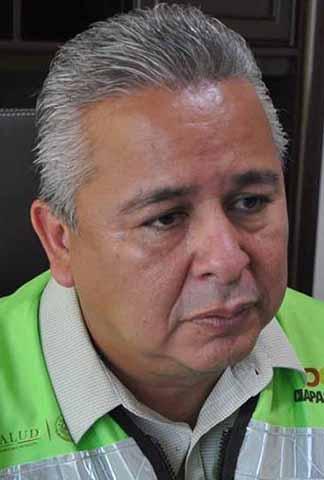Esaú Guzmán, jefe de la Jurisdicción Sanitaria No. VII.