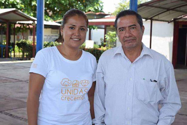 Handy Ulloa, Coordinadora del Proyecto; Ignacio Monzón, Director del CECATI 86.