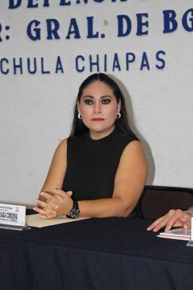 Marvin Arriaga, coordinadora de Arte y Cultura de la SEDENA.