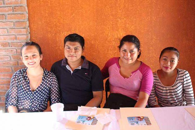 Angie Hernández, Amner Mejía, Adali Herrera, Berenice García.