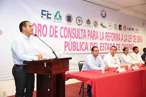 Con Nueva Ley de Obra Pública Mayor Derrama Económica Para Chiapas: Eduardo Ramírez