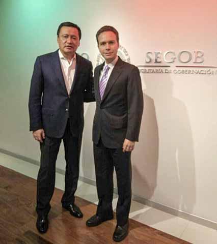 El Secretario de Gobernación y el Gobernador de Chiapas revisaron acciones conjuntas en materia de seguridad.