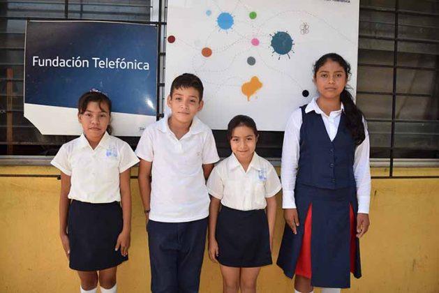Aylin Luna, Oliver Trujillo, Rosario Roblero, Belén Santiz.