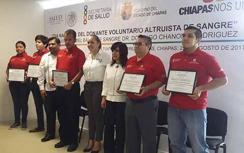 Chiapas, de los Estados con Mayor Porcentaje de Donación Altruista de Sangre