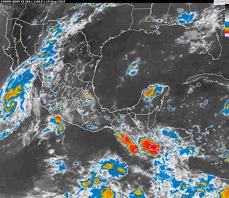 """Se Degrada """"Norma"""" a Tormenta Tropical"""