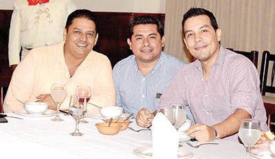 Marco Rosas, Hiram López, Alfonso Ramírez.