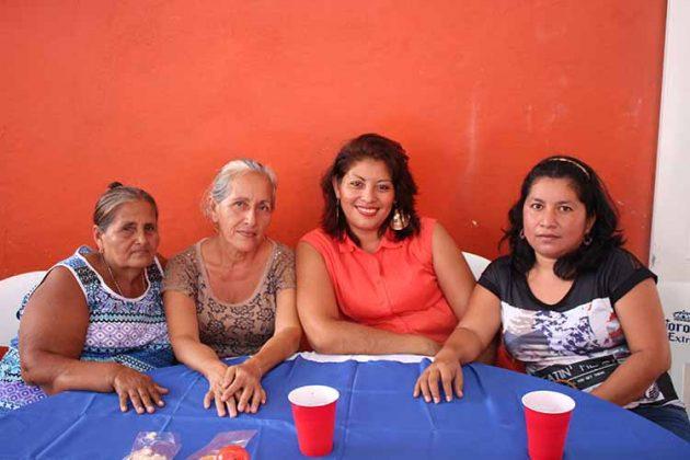 Miriam Soto, Vanessa, Auri, Elda Landeta.