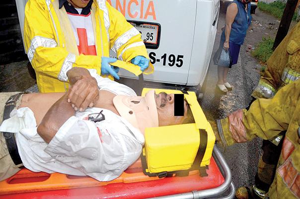 Taxista Herido en Choque