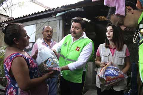 Continúa Fernando Castellanos Recorridos Para Entrega de Ayuda Humanitaria y Verificación de Daños en Tuxtla