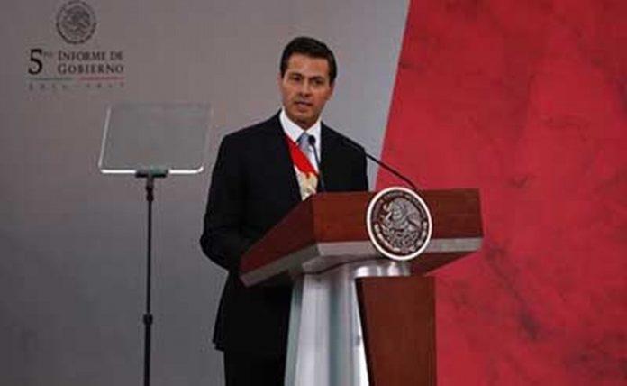 Emite Peña Nieto Mensaje a la Nación en el Marco del V Informe De Gobierno