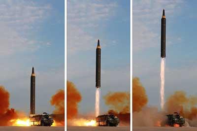 Corea del Norte mostró lanzamiento de un nuevo misil y amenazó a EEUU
