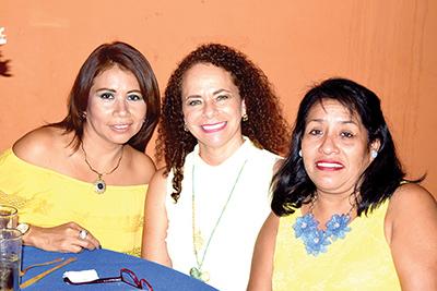 Emma López, Eugenia de Anza, Caty Jorge.