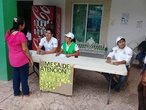 Instalan Puestos de Atención en Ayuntamientos de Chiapas