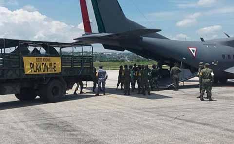 PC Estatal Utiliza Puente Aéreo Para Apoyar a Damnificados del Terremoto