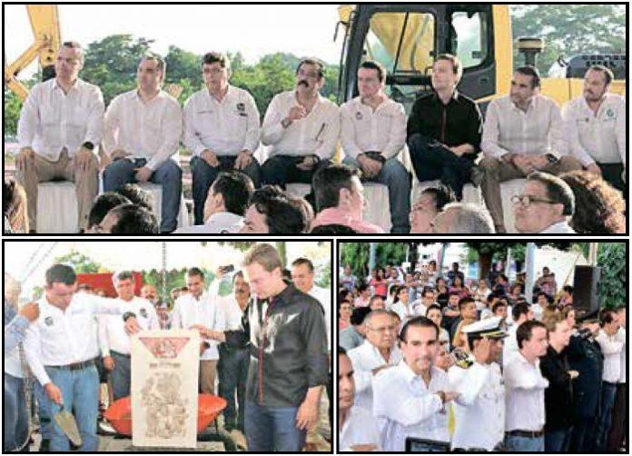 Conmemora Velasco Anexión de Chiapas a México; Colocan la Primera Piedra del Nuevo Hospital del IMSS