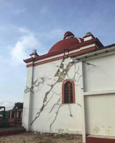 Sismo Daña Catedral de San Cristóbal de Las Casas
