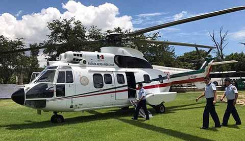 Maestros Lanzan Cohetones Contra Helicóptero Presidencial en Oaxaca