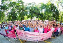 Encabeza el Diputado Enrique Zamora Caminata Contra el Cáncer de Mama