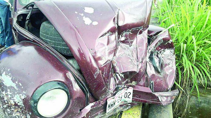 Cinco Lesionados en Accidente