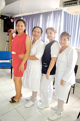 Madaí Hernández, Arminda de León, Lucrecia Salva, María Mendoza.