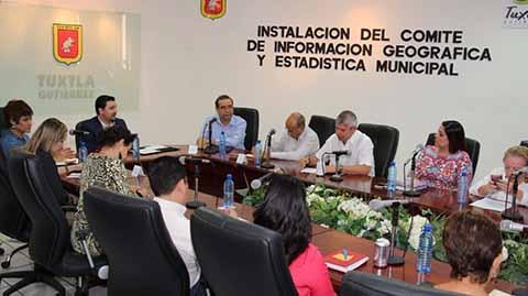 Tuxtla Gutiérrez Ciudad Pionera en el Estado al Contar con Comité de Información, Geografía y Estadística Municipal