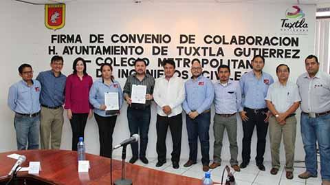 Gobierno de la Ciudad y Colegio Metropolitano de Ingenieros Civiles Signan Convenio de Colaboración