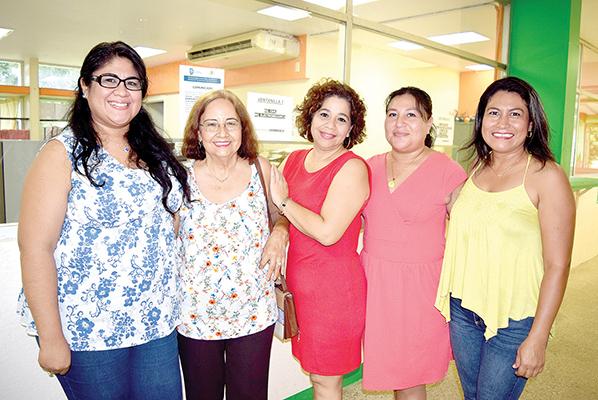 Ángela López, Malena Escobar, Darinka Berman, Marisol Ibarra, Vidalia Gómez.
