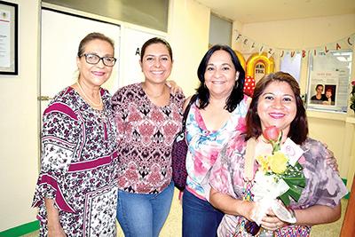 Morfa Carrasco, Lupita Bonilla, Lourdes Sánchez, Claudia Méndez.