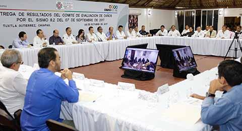 Encabeza MVC Reunión de Entrega de Resultados Preliminares del Comité de Evaluación de Daños por sismo