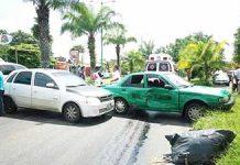 Combustible Regado Provoca Accidente