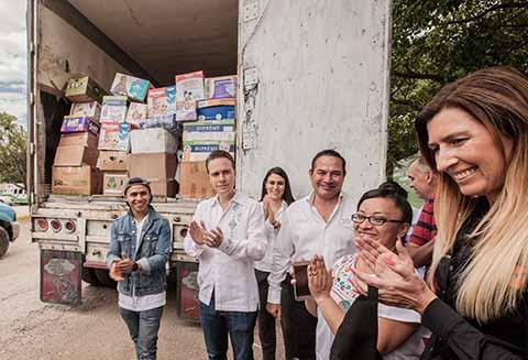 A Nombre de Chiapas Agradece Velasco Apoyo Enviado de Mexicanos en EUA