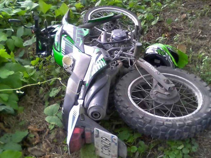 Sujetos Armados Abandonan Motocicleta Todo Terreno