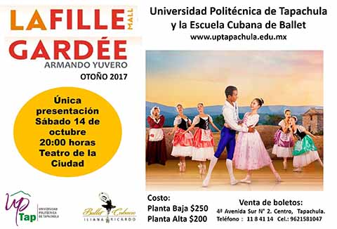 Presentarán Obra de Ballet en Beneficio de la UPTAP
