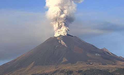 El Popocatépetl Aumenta su Actividad: CENAPRED