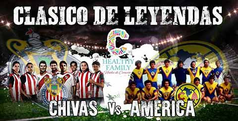"""Leyendas Chivas-América en el Estadio """"Manuel Velasco Coello"""""""