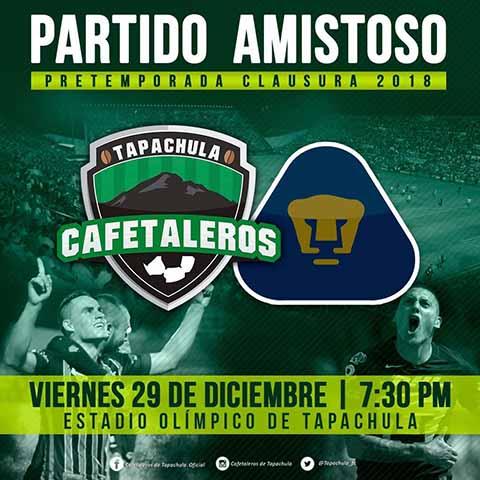 """Encuentro Cafetaleros-Pumas en el Estadio """"Manuel Velasco Coello"""""""
