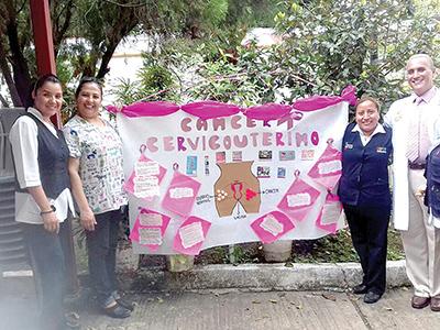 Irasema Sánchez, Jacqueline Castro, Isabel Roblero, Sergio Cadena.