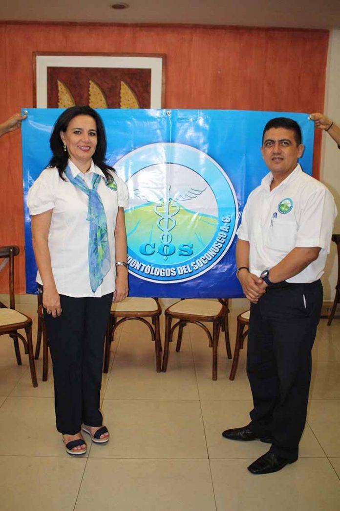 Maru Cruz Toledo, hizo entrega de la presidencia del colegio a Ezequiel Córdova.