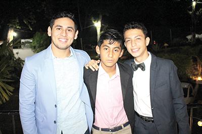 Pedro Morales, Carlos Orella, Anuar Álvarez.