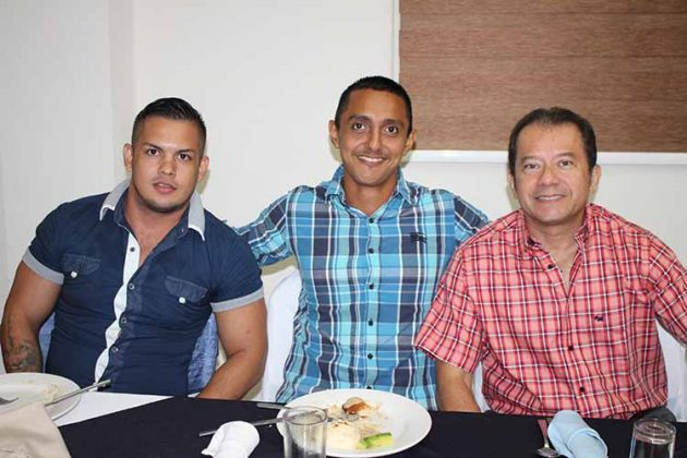 Manuel García, Saúl Barrios, Manuel Hernández.