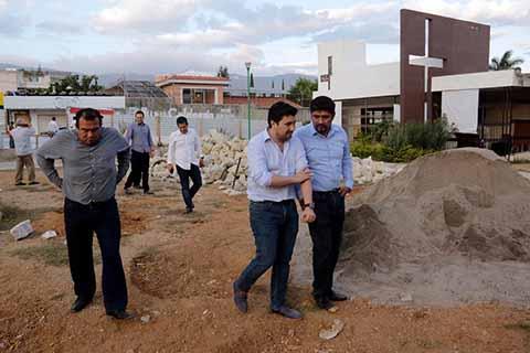 Supervisa Fernando Castellanos Obras de Mejoramiento Urbano en Tuxtla