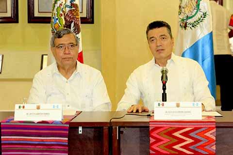 Se Reúne Magistrado Rutilio Escandón con el Vicepresidente de Guatemala