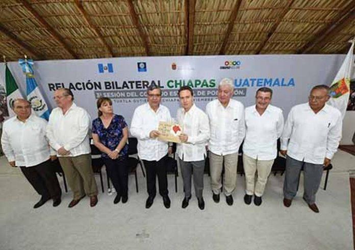 El mandatario estatal Manuel Velasco Coello se reunió con el vicepresidente de la República de Guatemala, Jafeth Ernesto Cabrera Franco, con quien acordaron fortalecer el comercio, turismo y migración.