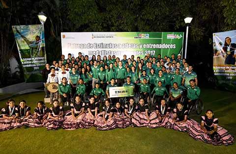 Destacaron en la Olimpiada Nacional, Nacional Juvenil y Paralimpiada 2017 que tuvo como sede los Estados de Nuevo León, Campeche, Jalisco y Colima.