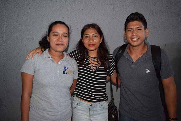 Génesis Arévalo, Judith Aquino, Armando Zamora.
