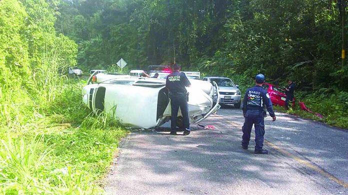 Aparatoso Accidente Dejó un Lesionado