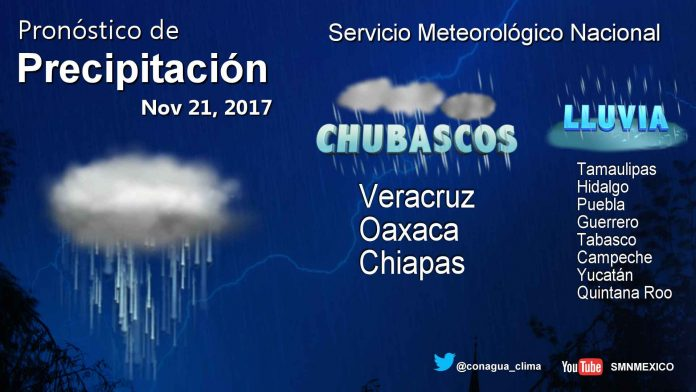 Se Prevén Tormentas Fuertes en Tabasco, Chiapas y Yucatán