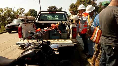 Sorprendidos por habitantes de los fraccionamientos Carlos Montemayor y Vida Mejor en Huixtla, como ocurre en todos los municipios.