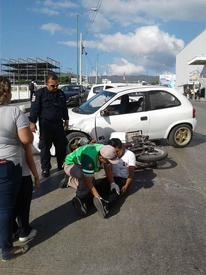 Motociclista fue Atropellado Frente a una Tienda Comercial
